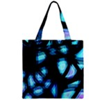 Blue light Zipper Grocery Tote Bag