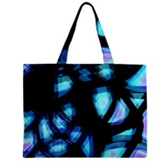 Blue Light Zipper Mini Tote Bag