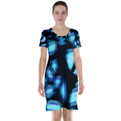 Blue light Short Sleeve Nightdress