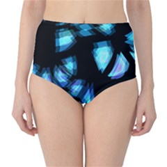 Blue light High-Waist Bikini Bottoms