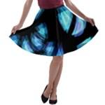 Blue light A-line Skater Skirt