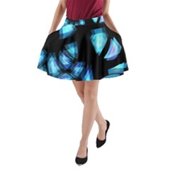 Blue light A-Line Pocket Skirt