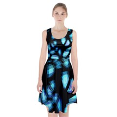 Blue light Racerback Midi Dress