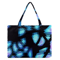 Blue light Medium Zipper Tote Bag