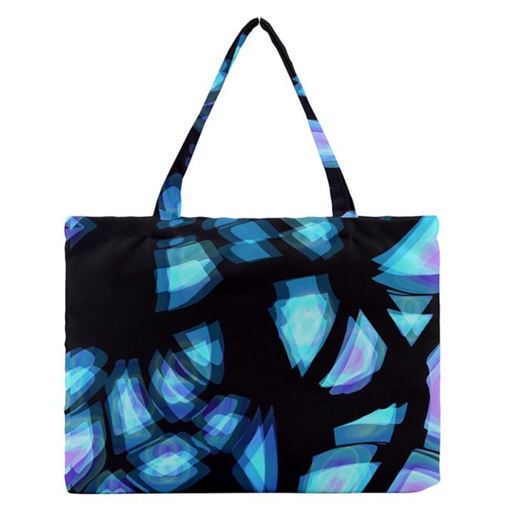 Blue light Medium Zipper Tote Bag