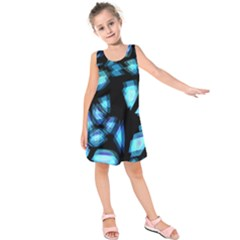 Blue light Kids  Sleeveless Dress