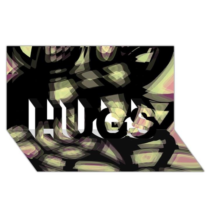 Follow the light HUGS 3D Greeting Card (8x4)