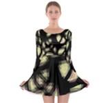 Follow the light Long Sleeve Skater Dress