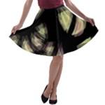 Follow the light A-line Skater Skirt