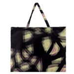 Follow the light Zipper Large Tote Bag