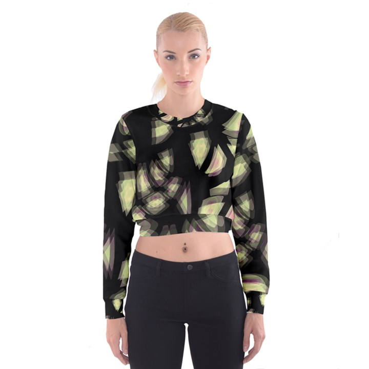 Follow the light Women s Cropped Sweatshirt