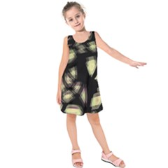 Follow The Light Kids  Sleeveless Dress by Valentinaart