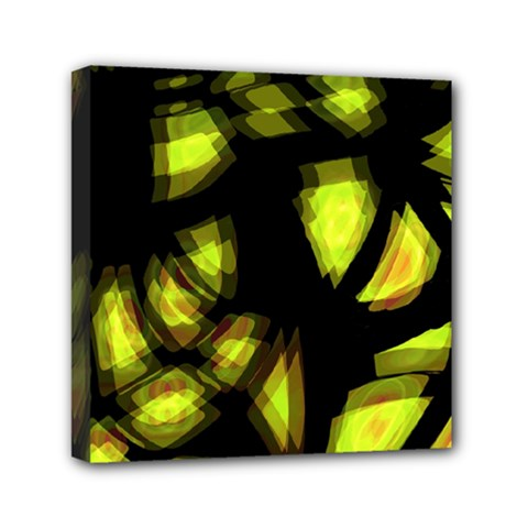 Yellow Light Mini Canvas 6  X 6  by Valentinaart