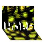 Yellow light HOPE 3D Greeting Card (7x5)