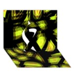 Yellow light Ribbon 3D Greeting Card (7x5)