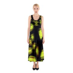 Yellow Light Sleeveless Maxi Dress by Valentinaart
