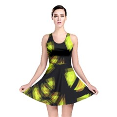 Yellow Light Reversible Skater Dress by Valentinaart
