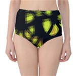 Yellow light High-Waist Bikini Bottoms