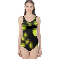 Yellow Light One Piece Swimsuit