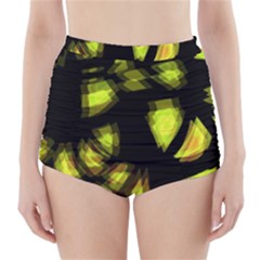 Yellow Light High Waisted Bikini Bottoms
