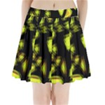 Yellow light Pleated Mini Skirt
