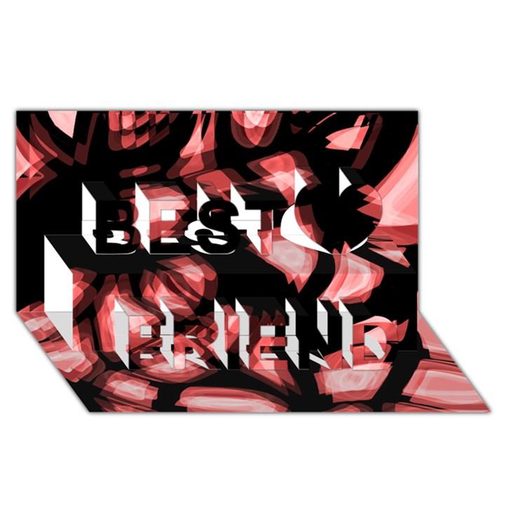Red light Best Friends 3D Greeting Card (8x4)