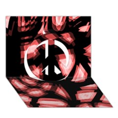 Red Light Peace Sign 3d Greeting Card (7x5) by Valentinaart