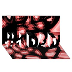 Red Light #1 Dad 3d Greeting Card (8x4)