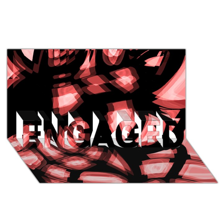 Red light ENGAGED 3D Greeting Card (8x4)