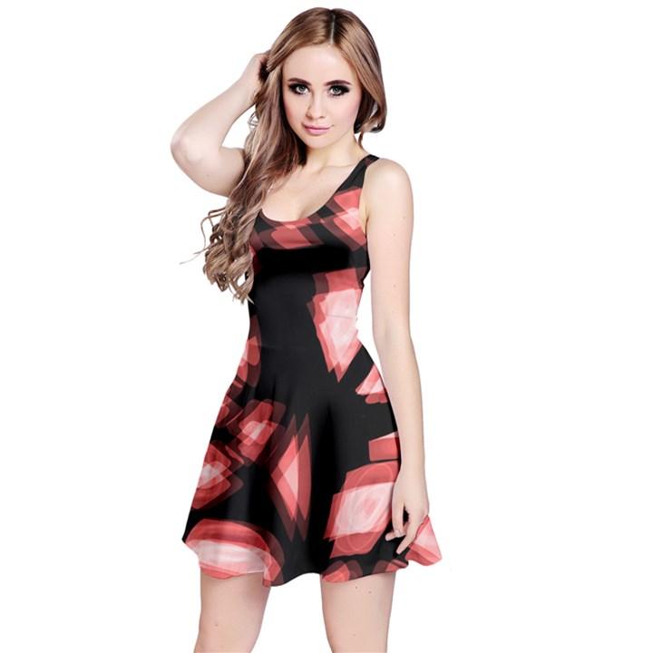 Red light Reversible Sleeveless Dress