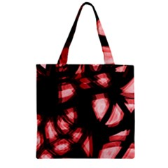 Red light Zipper Grocery Tote Bag