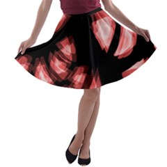 Red light A-line Skater Skirt