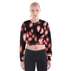Red light Women s Cropped Sweatshirt