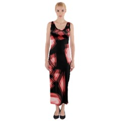Red light Fitted Maxi Dress