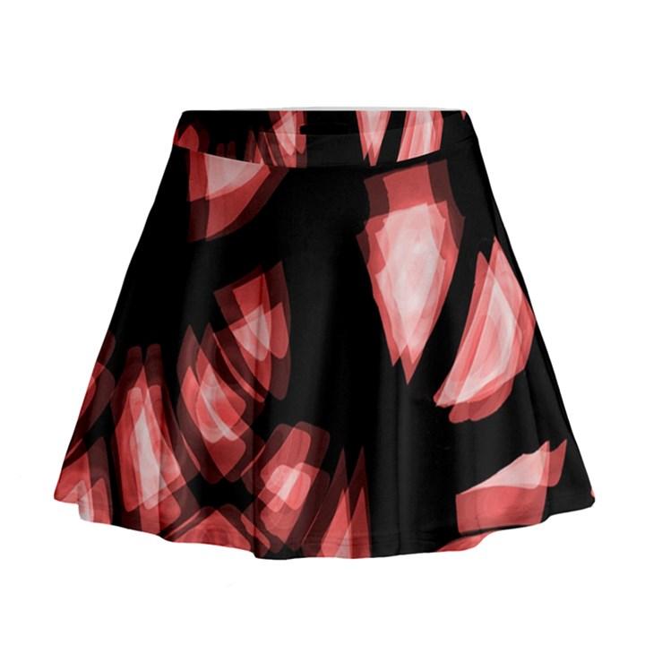 Red light Mini Flare Skirt