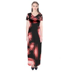 Red Light Short Sleeve Maxi Dress