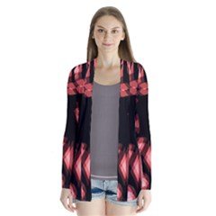 Red light Drape Collar Cardigan