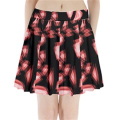 Red light Pleated Mini Skirt