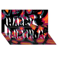 Hot, Hot, Hot Happy Birthday 3d Greeting Card (8x4)