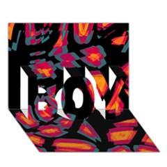 Hot, Hot, Hot Boy 3d Greeting Card (7x5) by Valentinaart
