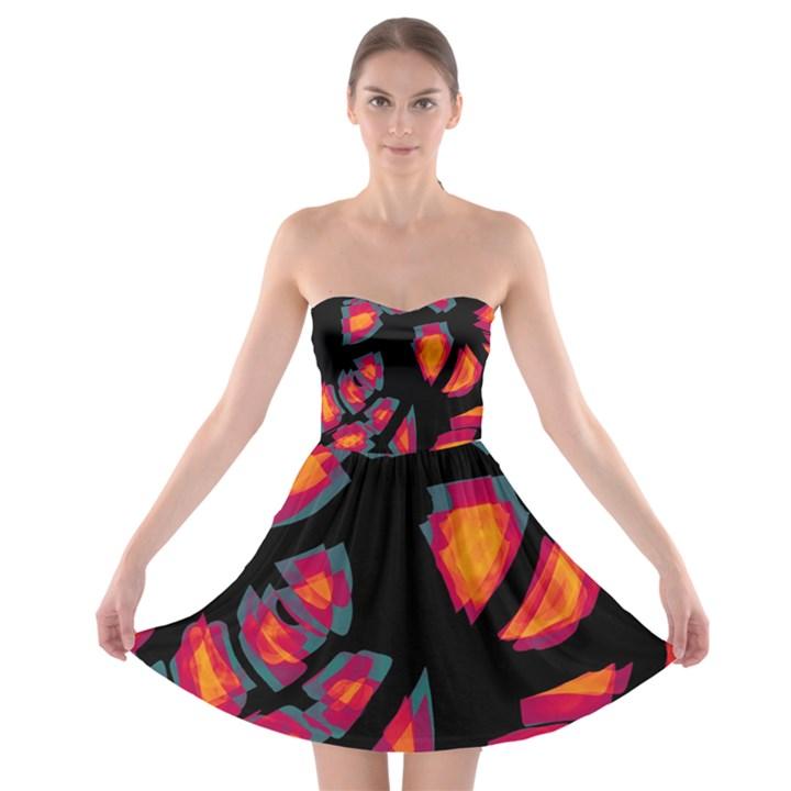 Hot, hot, hot Strapless Bra Top Dress
