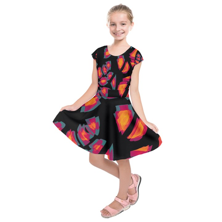 Hot, hot, hot Kids  Short Sleeve Dress