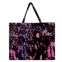 Put Some Colors    Zipper Large Tote Bag by Valentinaart