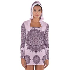 Sacred Mandala Women s Long Sleeve Hoodedd T Shirt