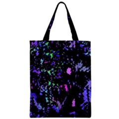 Think Blue Zipper Classic Tote Bag by Valentinaart