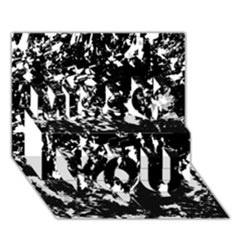 Black And White Miracle Miss You 3d Greeting Card (7x5)