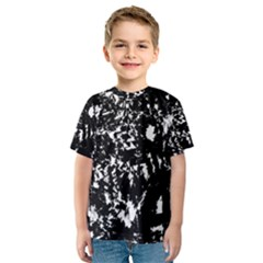 Black and white miracle Kids  Sport Mesh Tee by Valentinaart