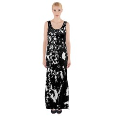 Black And White Miracle Maxi Thigh Split Dress by Valentinaart