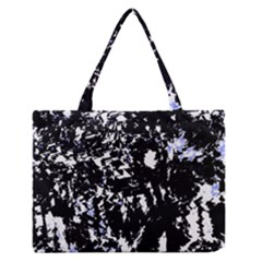 Little Bit Of Blue Medium Zipper Tote Bag by Valentinaart