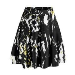 Little Bit Of Yellow High Waist Skirt by Valentinaart